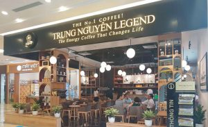 biển bảng tiệm cafe Trung Nguyên
