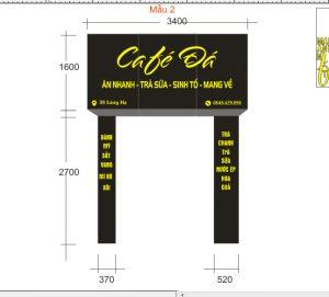 thiết kế biển quảng cáo tiệm cà phê chuyên nghiệp