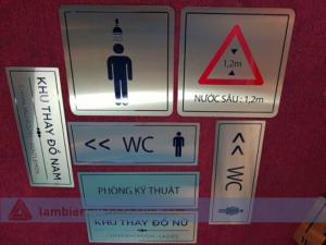 biển chỉ dẫn lối đi, wc, lối thoát hiểm ...