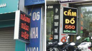 biển quảng cáo Led cho cửa hàng kinh doanh