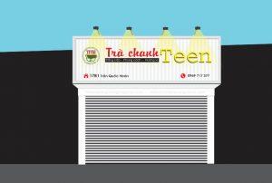thiết kế biển quảng cáo trà chanh hà nội