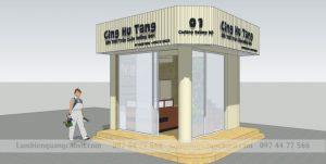 thiết kế biển quảng cáo trà chanh 2 măt tiền