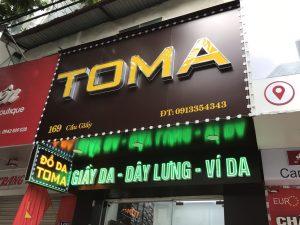 tông hợp biển Alu chữ nổi Mica, biển Led vẫy cho thương hiệu TOMA