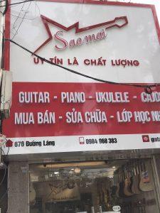 biển hiệu Alu chữ nổi Mica cho tiệm guitar
