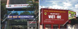 biển quảng cáo trung tâm ngoại ngữ thi công tại Hà Nội