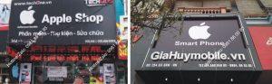 biển quảng cáo cửa hàng diện thoại hiện đại, sang trọng