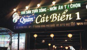biển quảng cáo chữ nổi gắn LED cho cửa hàng hải sản
