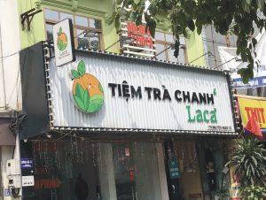 biển hiệu tiệm trà chanh tôn sóng
