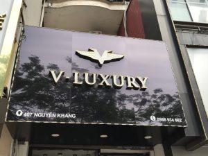 biển quảng cáo shop thời trang Alu gương