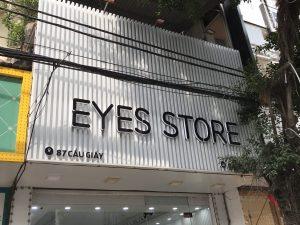 biển quảng cáo shop thời trang nền lam nhựa chữ nổi Mica