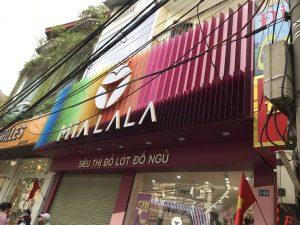 biển quảng cáo tiệm đồ ngủ MIALALA