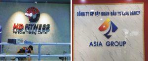 gia công logo công ty Mica gắn đèn led