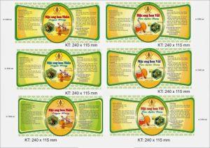 in ấn nhãn dán quảng cáo chai lọ