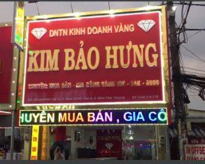 biển quảng cáo tiệm vàng