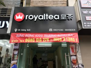 biển quảng cáo tiệm trà sữa