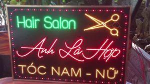 biển LED vẫy tiệm hair salon tóc đẹp Hà Nội giá rẻ