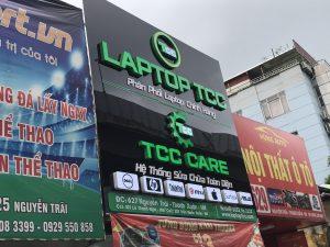 biển quảng cáo cửa hàng sửa chữa laptop Mica