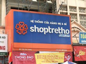 biển quảng cáo shop mẹ và bé