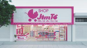 biển quảng cáo shop mẹ và bé ốp Alu chữ nổi