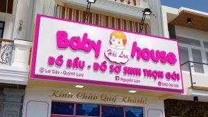mẫu bảng hiệu quảng cáo shop mẹ và bé đẹp 2021