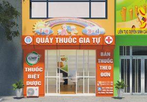 biển quảng cáo cửa hàng tiệm thuốc đẹp