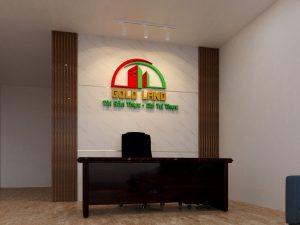 logo backdrop văn phòng Mica