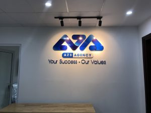 logo backdrop văn phòng Mica dán Decal
